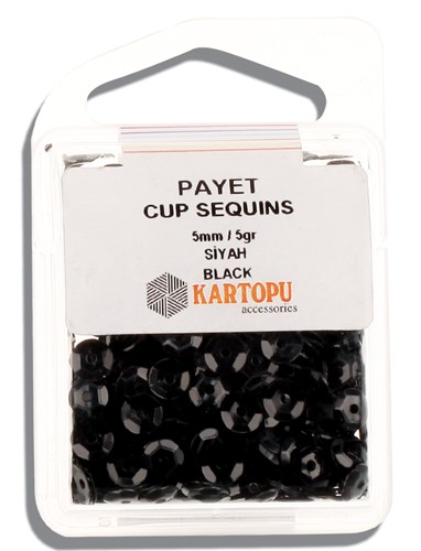 Kartopu 5 mm Black Payet - 01.105