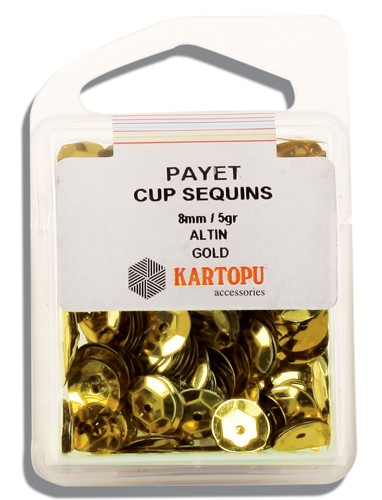 Kartopu 8 mm Gold Payet - 02.101