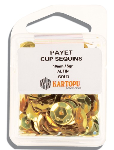 Kartopu 10 mm Gold Payet - 03.101