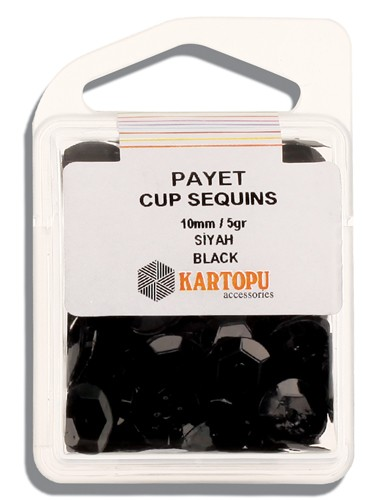 Kartopu 10 mm Black Payet - 03.105