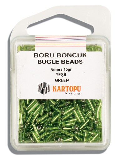 Kartopu 6 mm Glass Bugle 15 gr - 04.103