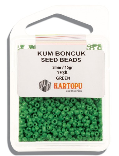 Kartopu 2 mm Glass Seed 15 gr - 07.103