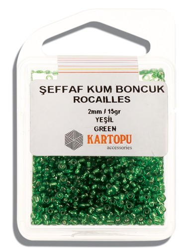 Kartopu 2 mm Glass Rocailles 15 gr - 08.103