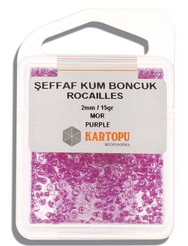 Kartopu 2 mm Glass Rocailles 15 gr - 08.116
