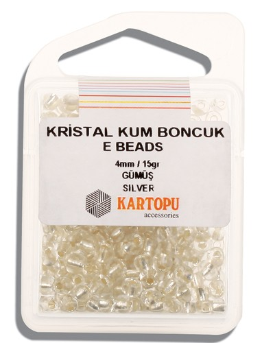 Kartopu 4 mm Glass E Beads 15 gr - 09.100