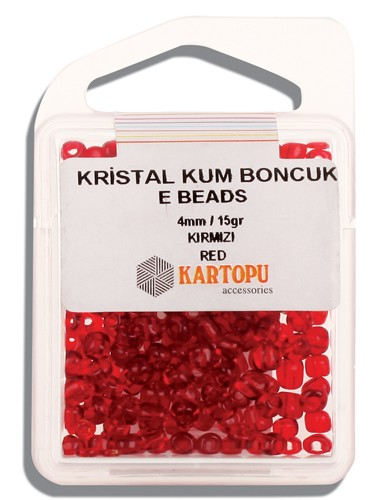 Kartopu 4 mm Glass E Beads 15 gr - 09.102