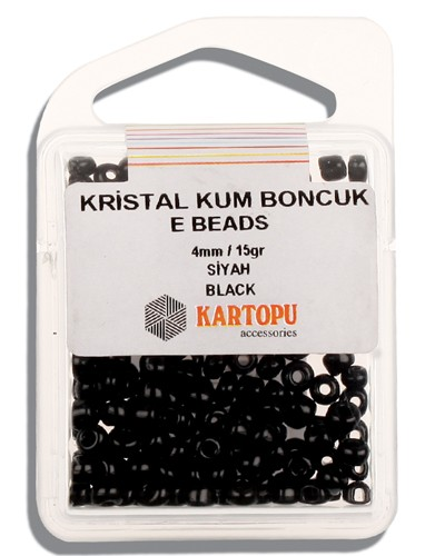 Kartopu 4 mm Glass E Beads 15 gr - 09.105