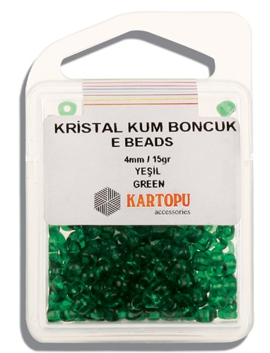 Kartopu 4 mm Glass E Beads 15 gr - 09.103