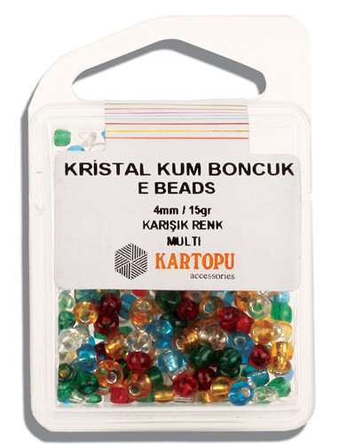 Kartopu 4 mm Glass E Beads 15 gr - 09.106