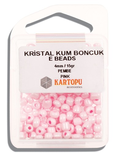Kartopu 4 mm Glass E Beads 15 gr - 09.107
