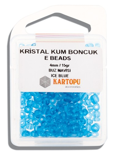 Kartopu 4 mm Glass E Beads 15 gr - 09.112