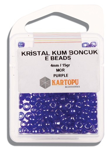 Kartopu 4 mm Glass E Beads 15 gr - 09.116