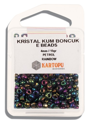 Kartopu 4 mm Glass E Beads 15 gr - 09.119