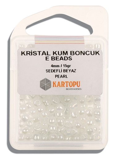 Kartopu 4 mm Glass E Beads 15 gr - 09.120