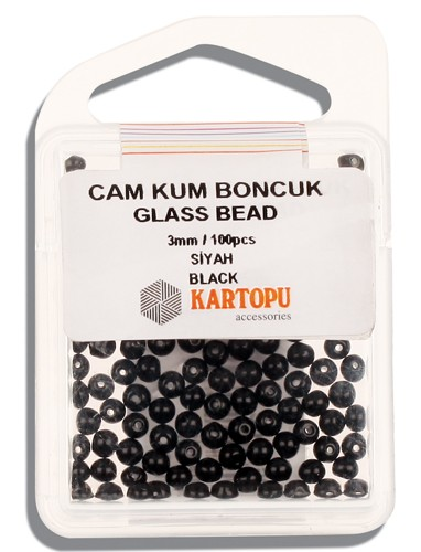 Kartopu Glass Bead 3 mm 60 ps  - 10.105