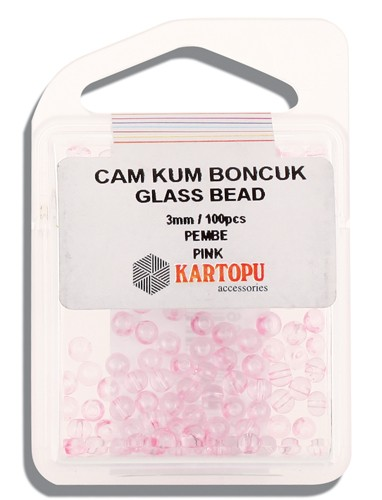 Kartopu Glass Bead 3 mm 60 ps  - 10.107