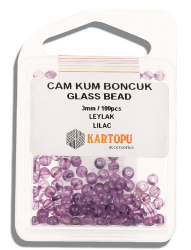 Kartopu Glass Bead 3 mm 60 ps  - 10.110