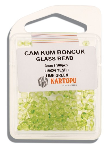 Kartopu Glass Bead 3 mm 60 ps  - 10.115