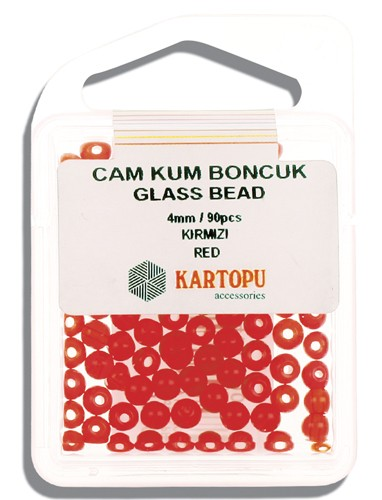 Kartopu Glass Bead 4 mm 60 ps  - 11.102