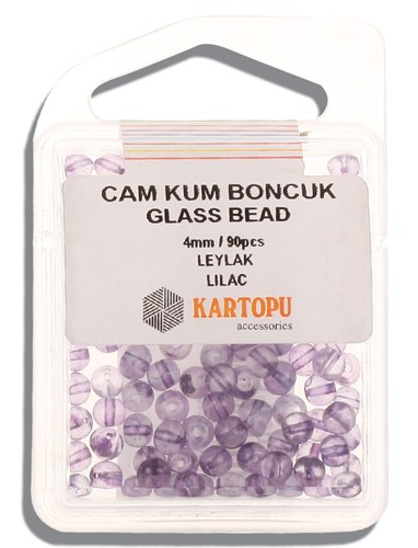Kartopu Glass Bead 4 mm 60 ps  - 11.110