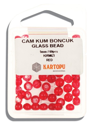 Kartopu Glass Bead 5 mm 60 ps  - 12.102