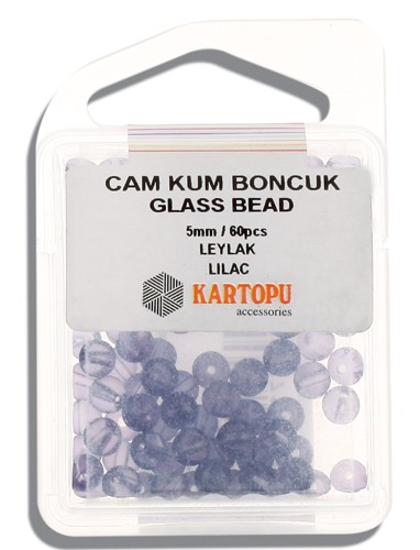 Kartopu Glass Bead 5 mm 60 ps  - 12.110