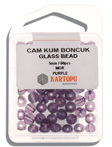 Kartopu Glass Bead 5 mm 60 ps  - 12.116