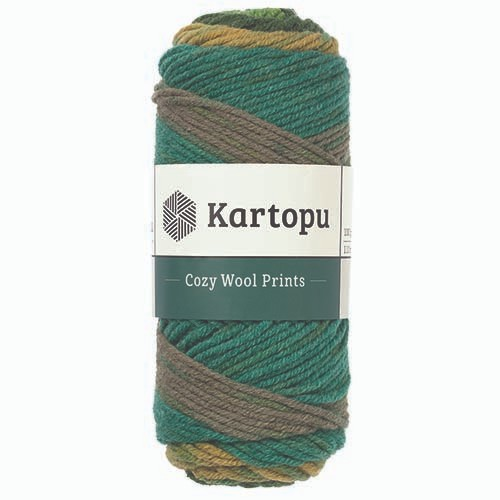 Kartopu Cozy Wool Prints - H1874